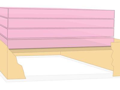 Insulating attic hatch panel