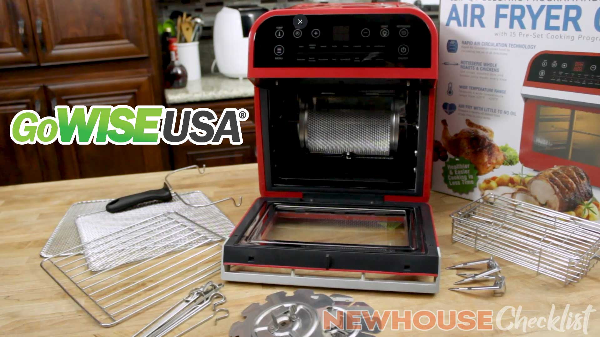 GoWISE Air Fryer With Rotisserie